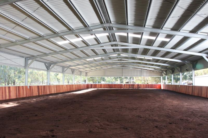 AA Indoor Arena jarrah screenings surface reticulated