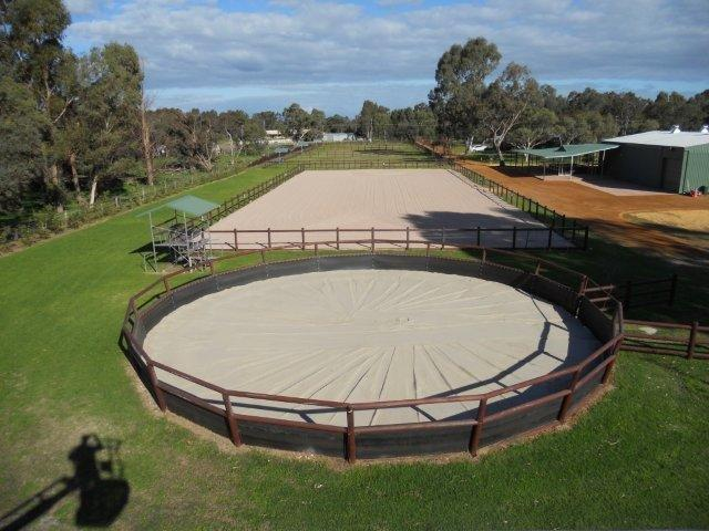 3H - Finished result Round Yards/ Arena/Paddock Fenced/ Gate Shelters/ Grand Stand/ Drive-Way and Stables