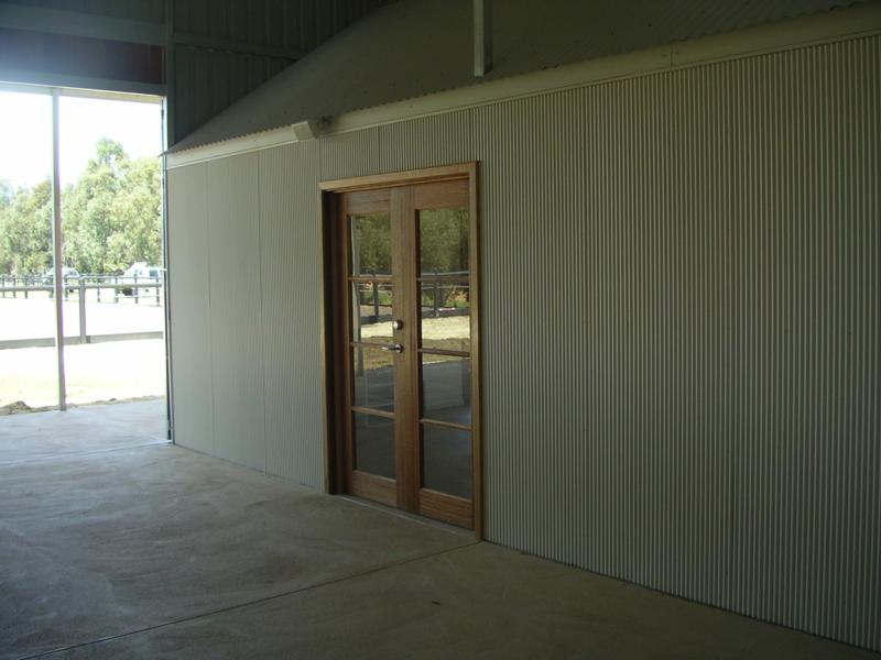Kitchen/activity and meeting room inside stables, Double French glass doors to front