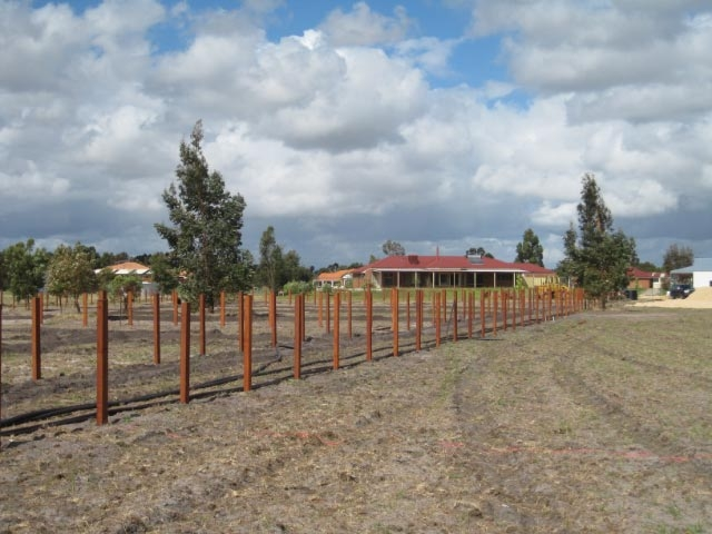1H-Property post only Jarrah Fencing
