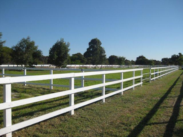 1I - Jarrah Post and Rail Fencing painted White