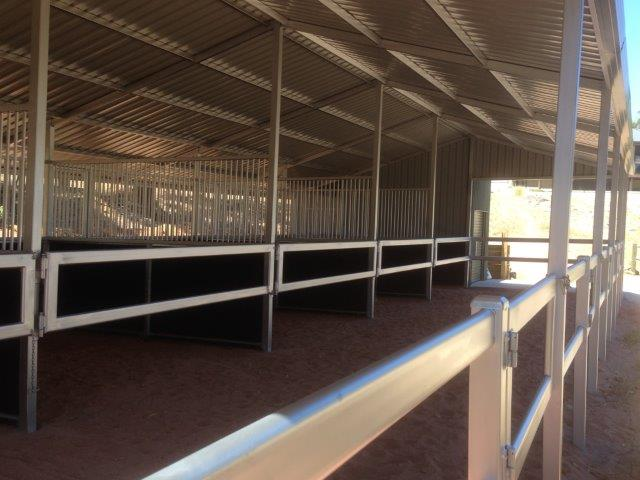 Stables /Yards covered can be opened to make large stall or closed for stable