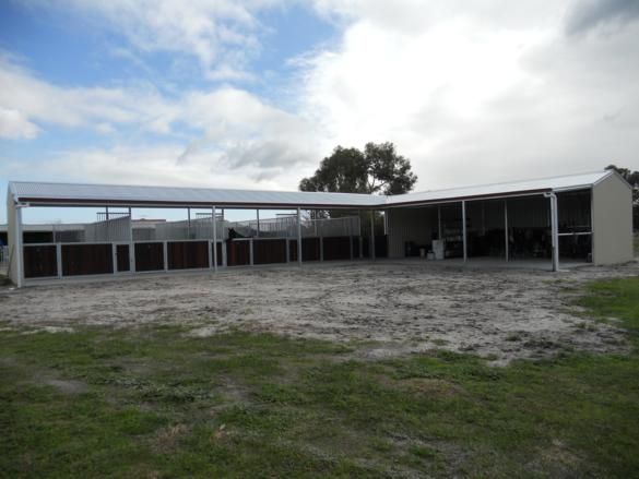 Open Front Stables In an l-shape. Feed, Tack, Harness Area