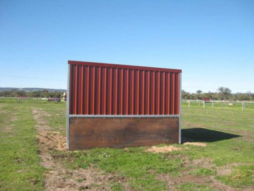 2 sided shelter rubber side wall to 1200mm (side view)