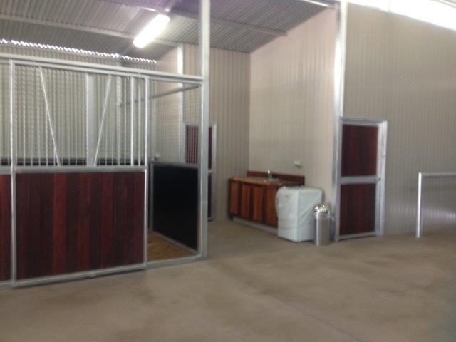 V section on stall sliding door toilet and tack room