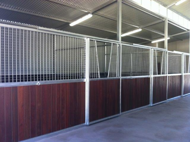 Stalls Steel Mesh with Jarrah below